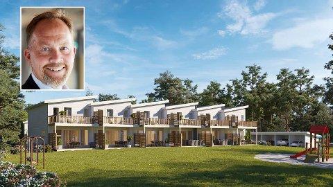 BORETTSLAG: De nye boligeenhetene får en sentral beliggenhet nordøst for Tønsberg. Daglig leder Yngve Åkvåg i Heimgard Bolig AS sier at boligprosjektet vil bygges ut som et borettslag.