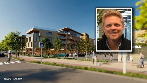 STORE ENDRINGER: Utbygger og Pål Egeland har presentert ambisiøse planer som de kaller for Tolvsrød torg. Men ikke alle er like begeistret for endringene som kan komme i området.