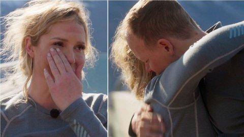 MÅTTE REISE HJEM: Det ble tårevått da Aurora Gude måtte takke for seg i «71 grader nord – Norges tøffeste kjendis». Foto: Discovery