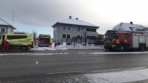 BRANNTILLØP: Nødetatene rykket til Nøtterøy lørdag.