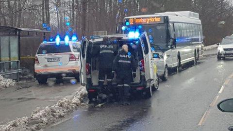 PÅGREPET: – Politiet måtte håndtere henne ganske bestemt, sier operasjonsleder Trond-Egil Groth ved Sør-Øst politidistrikt.