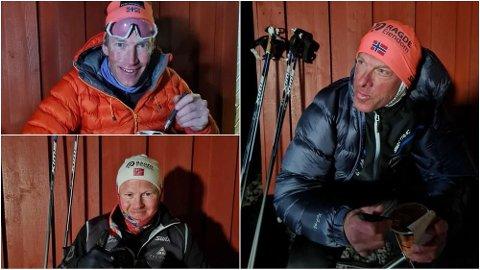 REKORD: Anders Aukland, Joar Thele og Simen Østensen satte nye verdensrekord i å gå på ski lengst mulig i strekk. Anders gikk lengst av de alle.
