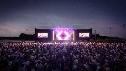 KONSERTARENA: Nye Jarlsberg kan også  bli en gigantisk arena for stadionrock.
