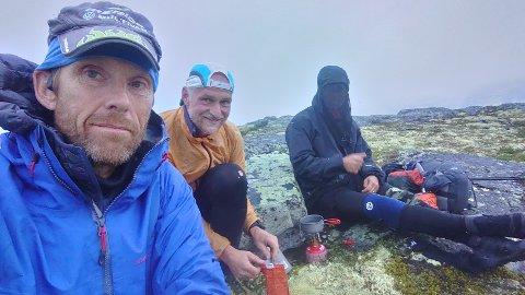 OSLO-BERGEN: Arne Nåtedal (t.v), Bent Halling (midten) og Erling Furunes (t.h) la ut på sin største utfordring hittil.