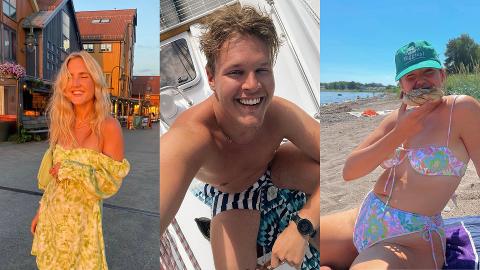 TØNSBERGKJENDISER: Flere kjente fjes har tatt turen til Tønsberg i sommer.