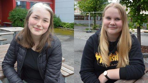 Anna Emilie Sebakk(18) og Kristine Skjølås(17) er nylig ferdig med sin obligatoriske skolegang.