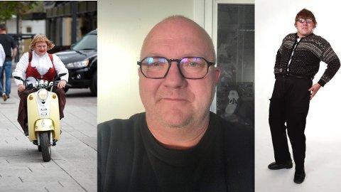TIL TOTEN: Bjørn Kleiven tar med karakterene Gudfrid og Hallvar Syvertsen til Toten i jula.