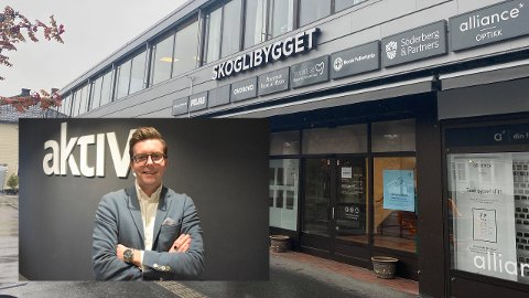 ÅPNER: Aktiv Eiendom åpner avdeling i Skoglibygget på Raufoss. Vegard Dotseth fra Eina skal lede avdelingen.