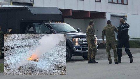FERDIG: Forsvarsbygg ble denne uken ferdig med sine undersøkelser på Starum. De fant ikke noe farlig i området granaten ble funnet sist torsdag.