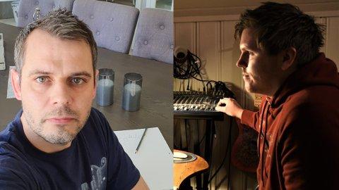 SAMARBEID: Øyvind Alm(t.v) har sammen med Martin Wangen Pettersbakken i Silvertone laget en låt i kampen for å bevare Kolbu skole.