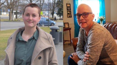ÆRE: Kristina Bergersen har barbert vekk håret til ære for sin avdøde mor, Bente Bergersen, som døde av kreft.