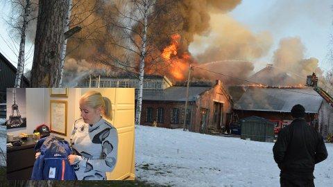 KAPP-BRANNEN: Trine Asbøll var med fra Sivilforsvaret for å hjelpe nødetatene med slukkingen av brannen i Melkefabrikken på Kapp.