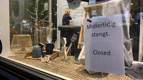 STENGT: Butikken i Storgata har stengt dørene.