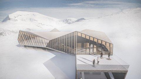 NYTT: Fjellheisen-bygget skal rives for å gi plass til et nytt, moderne stasjon oppe i fjellet over Tromsø.