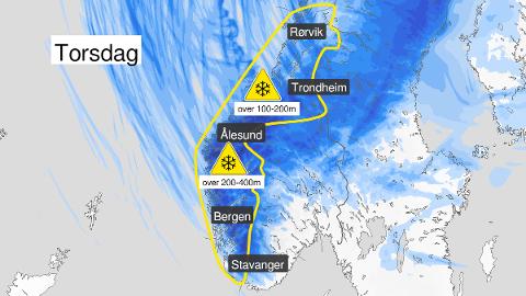 VARSLER VINTER: Det forventes store mengder snø i Trøndelag framover.  - Det forventes både snø og vind, så det gjelder å være forberedt, sier statsmeteorolog Frode Hassel.