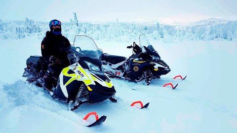 PÅ PLASS: Lierne kommune har anmeldt ulovlig kjøring med snøskuter. Politiet varslet i forrige uke at de vil ha flere kontroller i tida framover.