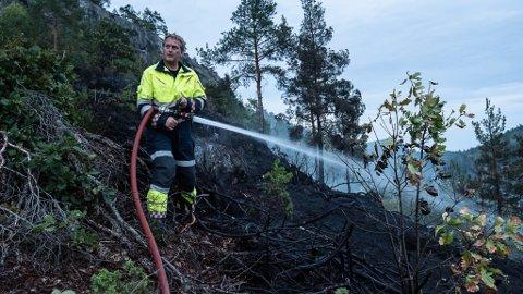 Brannfolkene fikk kjapt kontroll på brannen.