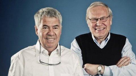 Sportskjendisene og klisterhjernene Egil «Drillo» Olsen og Arne Scheie kommer til Grisen Storsenter i Tvedestrand.