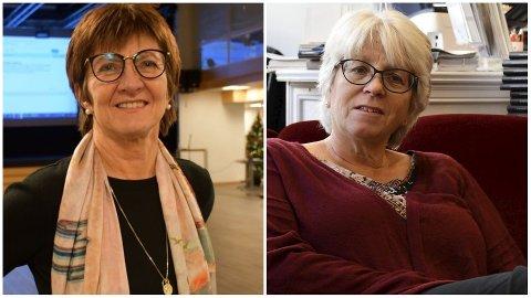 Ordfører Marianne Landaas (t.v.) takket i kveld Solveig Røvik for 13 års innsats i forliksrådet.