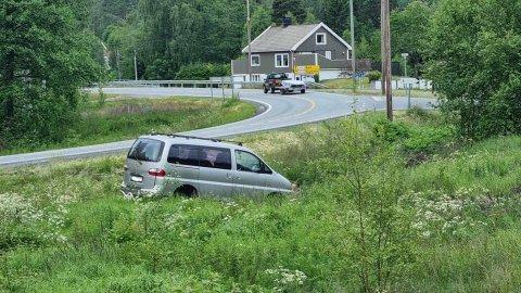 Her stoppet ferden for denne sjåfføren.
