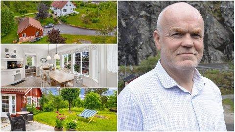 Olav Voie, kjent som direktør på TeamTec i Tvedestrand, har bodd på denne eiendommen sammen med sin familie i 30 år. Foto: Kai Myrstrand, Fokus Foto og arkivfoto