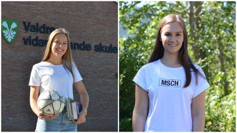 Gode resultater: Andrea Skattebo (t.v.) og Siri Bråten Øye ble ferdige på videregående i vår. Begge har oppnådd gode resultater i løpet av de tre årene de har gått på Valdres VGS.