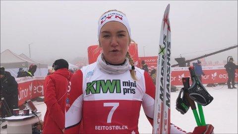 I gang: Gina Flugstad Øistuen fra Lyn Ski går NM i langrenn.