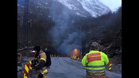 Brann: Det var dramatisk da det brant i Gudvangatunnelen natt til lørdag.