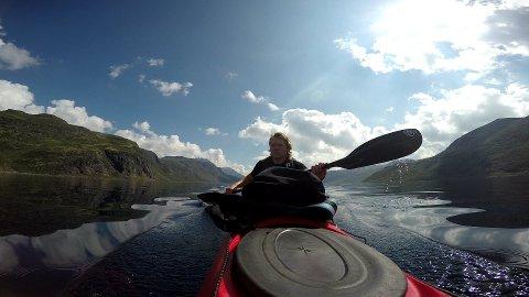 TRADISJONSTUR: Bjørnar Sæthershagen (24) har planer om å fortsette med padling til Vinjerock