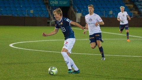 Fra start: Andreas Nyhagen får muligheten fra start, og debuterer med det i eliteserien.
