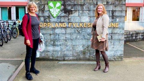 PÅ TOPP: Anne Lise Fredlund (t.h.) og Karin Andersen topper SV-listene i Oppland og Hedmark når nominasjonskomiteene legger fram sin innstilling