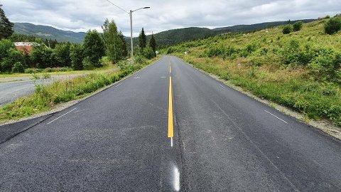 NY ASFALT: Fv 251 Høljarast-Bruflat har nylig fått nytt asfaltdekke. Det hadde ikke skjedd uten ekstra bevilling, mener ordføreren.