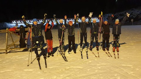 Fornøyde: Skrautvål sine skiskytterne gjorde det veldig godt under Romjulssprinten i skiskyting på Karidalen/Østre Toten tirsdag 29. desember.