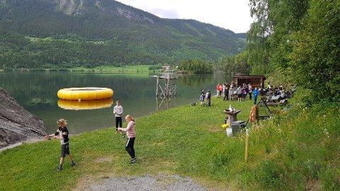 Fint sted: Friluftsområdet ved Tingstein er en flott leirplass for fiskedagen.