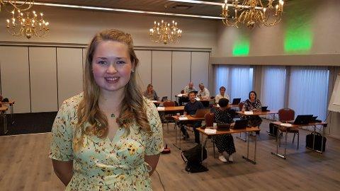 Delegat: Marit Andrisdotter Kvam frå Vang er leiar for Oppland Senterungdom og deltek på  landsmøtet i Senterpartiet.