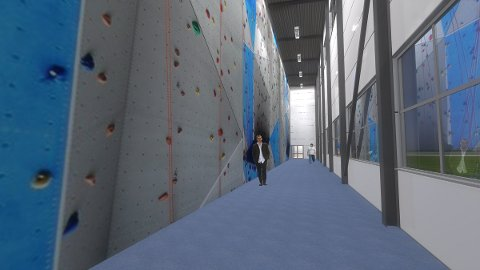 KLATREGRUPPE: GIF har allerede en gjeng ungdommer som klatrer i Lihallen, og planen er  etablere en egen klatregruppe. Men når Slattumhallens klatrevegg står klar får de en betydelig større vegg  boltre seg i.