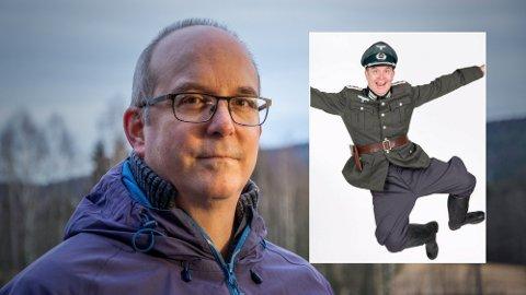 NAZI-KRITIKK: Lokalpolitiker og skuespiller Markus Tønseth i Nittedal, får kritikk for å ha et profilbilde på Facebook der han har på seg en tysk nazi-uniform. - Jeg synes det er et bra bilde, svarer han.