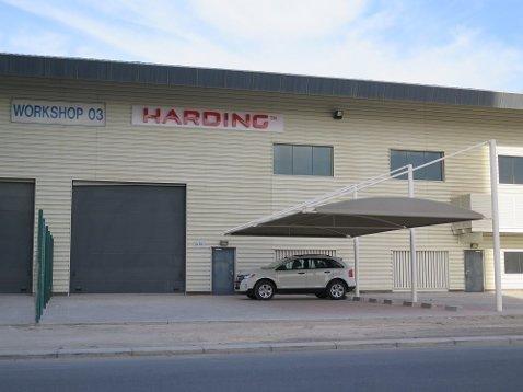 Slik ser fasaden på den nye stasjonen til Kvinnherad-selskapet Harding ut.