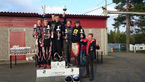 Petter Fjelstad fikk en fin 3. plass i gokartløpet i Svinndal.