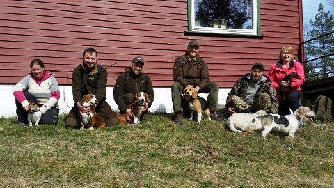 Det var en god del som var med på jaktsporkurs på Ødemørk i helgen.