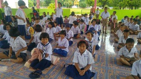 FÅR SKOLEGANG: Barn fra Marys Venners skoleprosjektet i Nongkhai i nord-Thailand. Gruppene som reiser til Thailand skal besøke dette prosjektet.