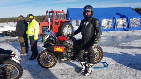 RASKEST: Jan Martinsen forografert før rekordløpet sitt i Sverige denne helgen.
