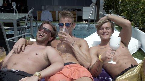 (f.v.) William Furu, Nicklas Engseth og Richard Falk Larsen levde livets glade dager under innspillingen av After Beach.