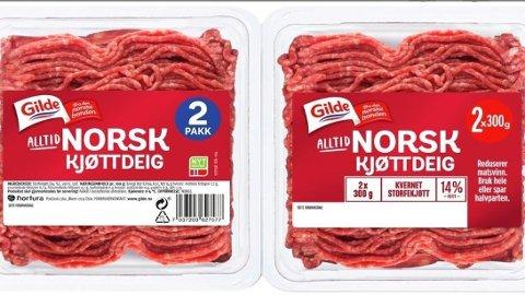 BYTTES UT: Kjøttdeigpakken slik vi kjenner den fases ut hos REMA 1000.