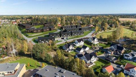 Mange etablerer seg i et område der det tidligere var mest hytter.