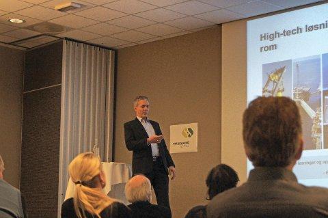 NÆRINGSLIVET MÅ DELE MED HVERANDRE: Direktør for nye satsinger Sverre Gotaas hos Kongsberggruppen ASA mener næringslivet må dele erfaringer rundt grønn verdiskaping.