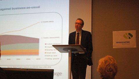 MÅ VÆRE BÆREKRAFTIG: Idar Kreutzer i Finans Norge mener næringslivets aktivitet må være i samsvar med samfunnets mål om bærekraftighet.
