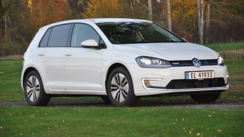 BESTSELGER: Golf er den mest solgte elbilen her til lands. E-Golf er også en solid bidragsyter til det totale Golf-salget.