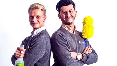 EVENTYRLIG: 22-åringene Patrick Solrunarson (t.v.) og Ghazi Khder Jezdin har hatt en eventyrlig suksess i renholdsbransjen etter oppstarten i 2013. Support Service Partner har i dag mer enn 60 ansatte.