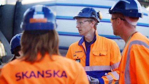 MÅ GÅ: Mange ansatte i Skanska må gå i 2018.